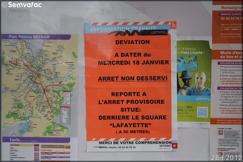 Affiche Information – Setram (Société d'Économie Mixte des TRansports en commun de l'Agglomération Mancelle)