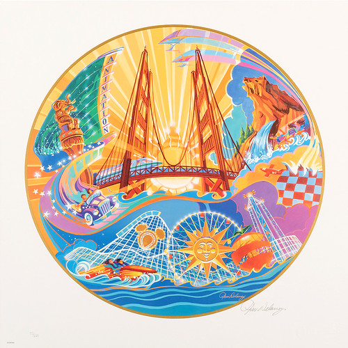 Disney's California Adventure opening day lithograph by Tim Delaney
