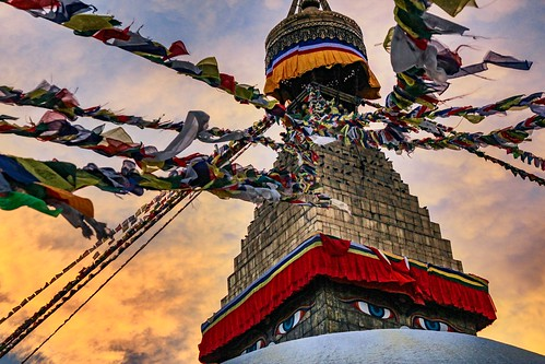 Golden hour at the Stupa
