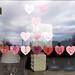 We Heart You Faribault message on Erickson Furniture's window in downtown Faribault, Minnesota