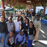 Kenya and South Africa Cochran fellows visiting the NC State Farmer's Market