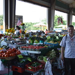 Moldova Cochran Fellow visiting the State's Farmer's Market in Raleigh, North Carolina