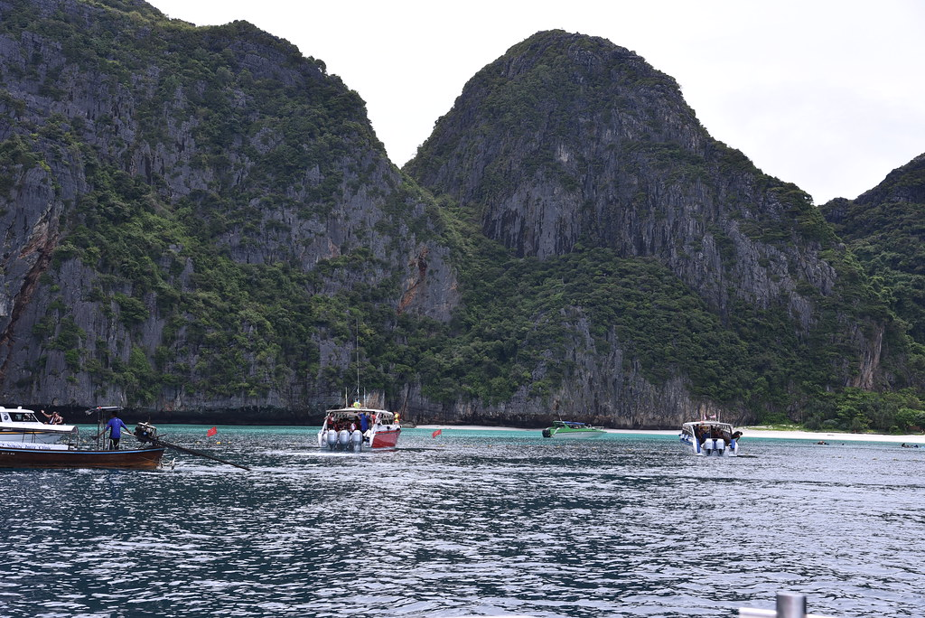 Nearing Maya Bay where the film The Beach was shot