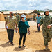 Commander of Joint Region Marianas, discusses the expeditionary medical facility with Governor of Guam