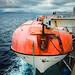 Rescue boat. To Suðuroy.  North Atlantic Ocean. SSL Smyril. 19-VIII-2019
