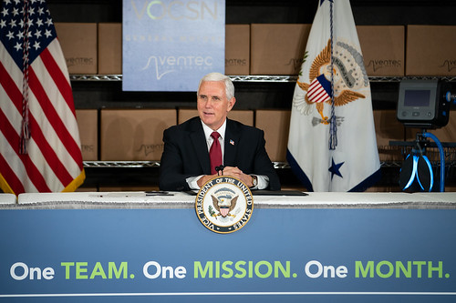 Vice President Pence at GM/Ventec Ventil by The White House, on Flickr
