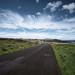 The road along the coast. Easter Island, Chile