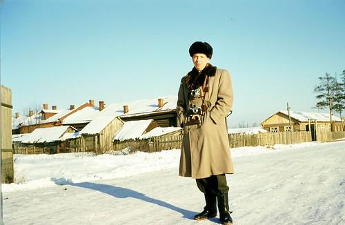 Joe Neubert traveling in the USSR, early 1950s ©  Michael Neubert