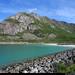 20190620_07 Mountain, turquoise bay, & white beach - Rørvikstranda, Lofoten, Norway