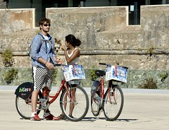 """One couple, two bikes [""""Bicas""""]"""