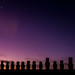 Stars watching over Easter Island