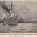 The SMS Königsberg sinks an English ship in the Rufiji River Tanzania 1914