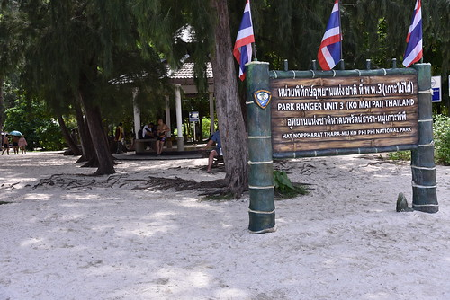 Sign for the Park Ranger's office at Ko Mai Pai