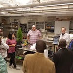 Fellows visiting the NC State Plant Disease and Insect Clinic