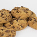 Close Up Photo of Chocolate Chip Cookies on White Background