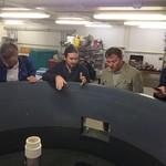 Fellows visiting NC State Fish Barn