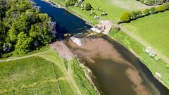 Weir 6th May (upstream downstream)