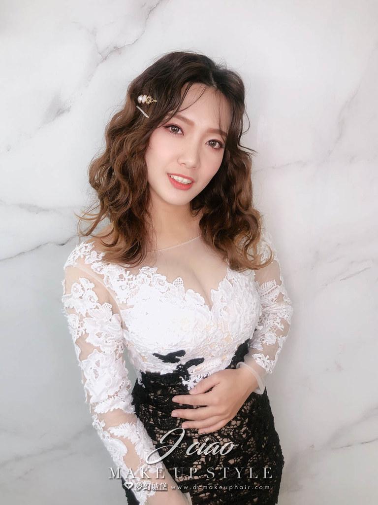 【新秘婕喬】新娘造型創作 / 韓系人魚捲