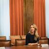 Cayetana Álvarez de Toledo en la reunión preparatoria previa a la constitución de la Comisión para la Reconstrucción Social y Económica. (07/05/2020) que