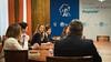 Cayetana Álvarez de Toledo en la reunión preparatoria previa a la constitución de la Comisión para la Reconstrucción Social y Económica. (07/05/2020)