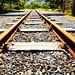 Rusty rails.