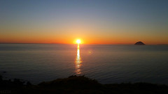 Photo of Sunset over Ailsa Craig