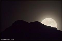 Lever de pleine Lune au point culminant