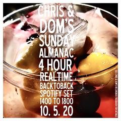 diary #2582: Sunday Almanac: Realtime Spotify Set, May 10th, 2020