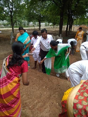 Vegetable Sowing to mark Aadi 18 Festival - Ramakrishna Mission Vidyalaya