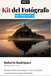 Entrevista en https://kitdelfotografo.com/roberto-rodriguez/