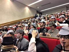 In the lecture theatre