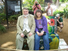 Roger Johnson & Jean Upton (photo courtesy of Jean Upton)