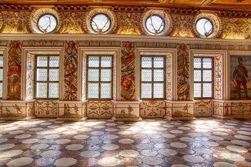 Spanish Hall at castle Ambras in Innsbruck, Tyrol, Austria