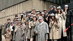A collection of Sherlocks - professional Holmes impersonator Stewart Quentin Holmes is to the fore