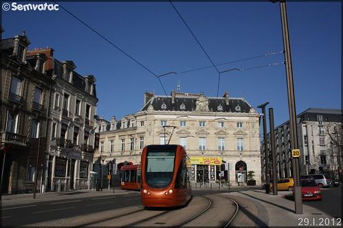 Alstom Citadis – Setram (Société d'Économie Mixte des TRansports en commun de l'Agglomération Mancelle) n°1011 (Sargé-lès-le-Mans)