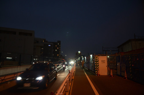 Tsunashima-kaido Bridge across JR Nanbu Line in 2018 December: 12
