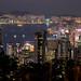 Victoria Bay vue de Victoria peak - Hong Kong