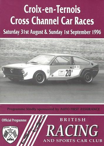 Croix programme cover (Courtesy of BRSCC)