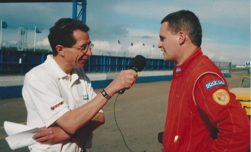 Steve Foley with Paul Truswell after class win at Donington in 2000