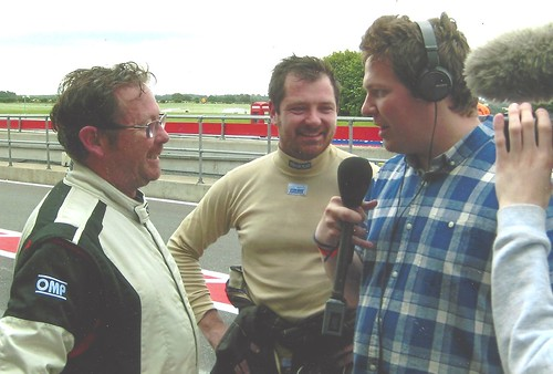 Paul Webster and Paul Plant with Jake Sansom at Snetterton