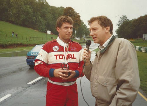 Andy Curtis with Andy Fraser after a win at Cadwell