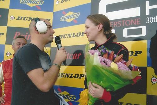 Emma Karwacki with Chris Hartley - Silverstone 2011