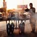 Street Food Vendor Fanning Grill, Chakwal Pakistan