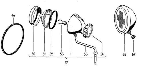 "Hella Spotlight mirror model 80/140 • <a style=""font-size:0.8em;"" href=""http://www.flickr.com/photos/33170035@N02/49885862073/"" target=""_blank"">View on Flickr</a>"