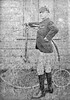 Arthur Herbert Tyler with a penny-farthing at The Watton, Brecon, Wales  1887