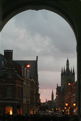 Ypres at Night from the Menin Gate