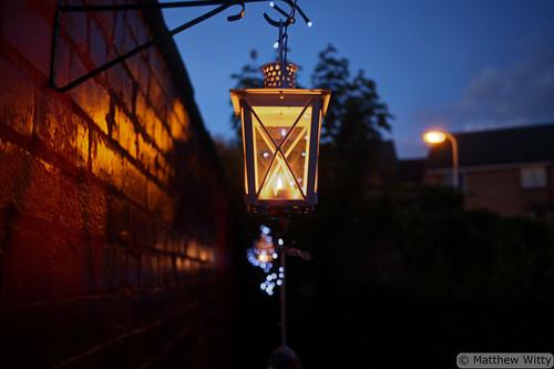Candlelit Hanging Lanterns