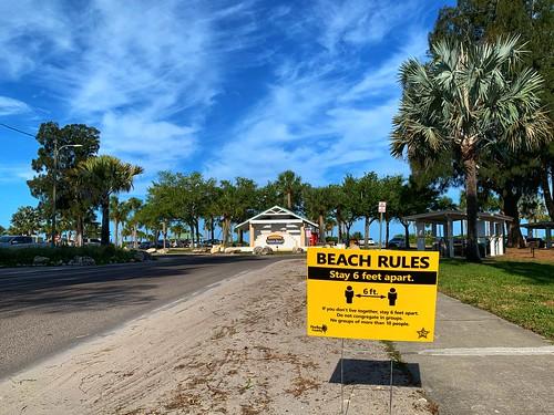 Beach Rules - Stay 6 feet apart.