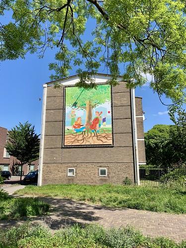 Muurdecoratie Troelstralaan Utrecht