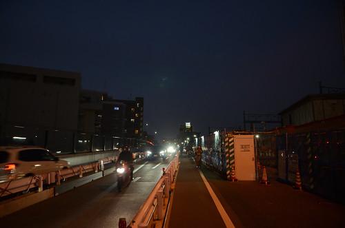 Tsunashima-kaido Bridge across JR Nanbu Line in 2018 December: 13